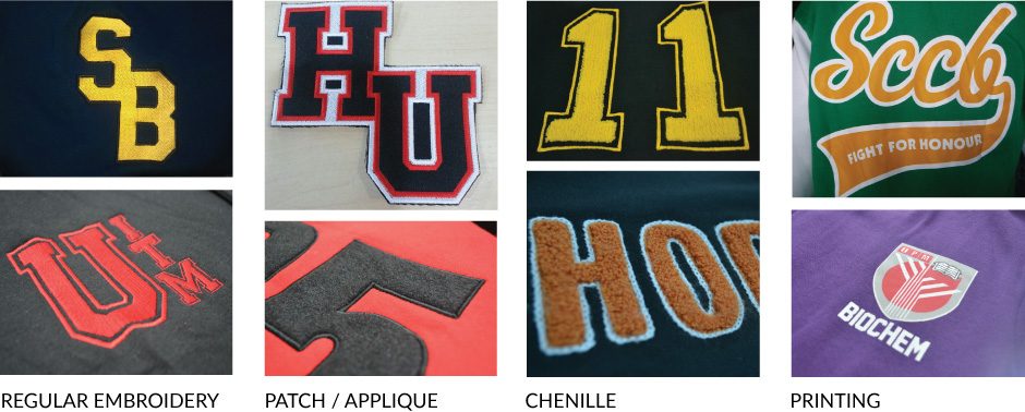 Decorations for Varsity Jackets