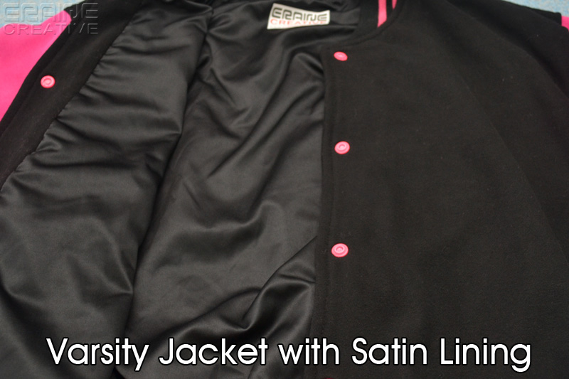 Varsity jacket with satin lining